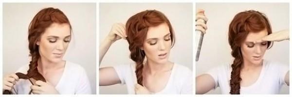 Ассиметричные прически на бок с косами и хвостами