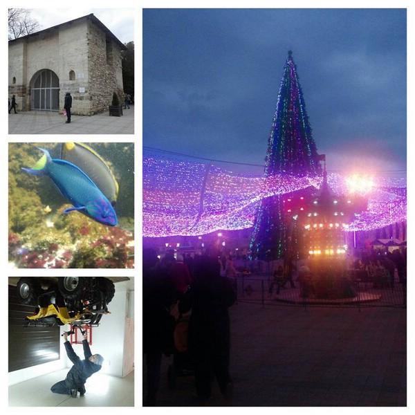 Главная площадь Анапы на новогодние праздники