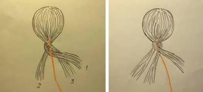 Плетем косы с лентами