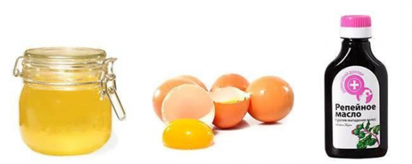 Маска с куриным яйцом